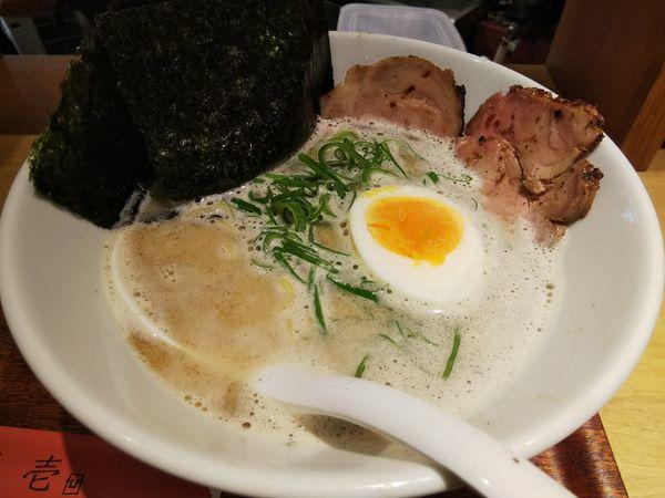 「濃厚塩とんこつ (麺大盛り)」@麺屋壱の写真