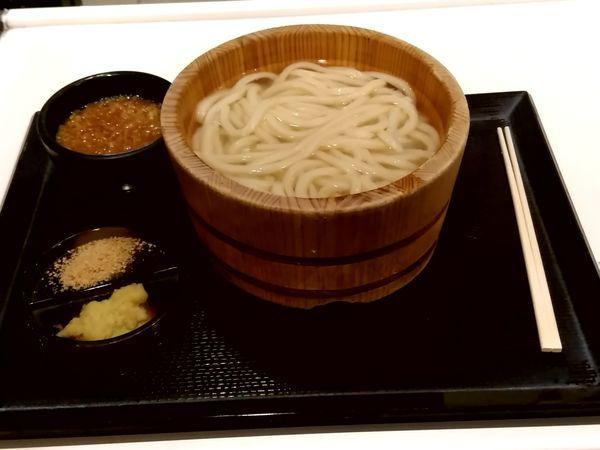 「釜揚げうどん(並盛)290円→140円」@丸亀製麺 イーサイト高崎店の写真