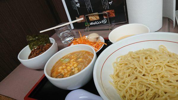 「辛ネギ味噌つけ麺 大盛」@ラーメン ばんだい 嵐山店の写真
