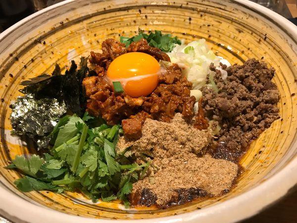 「まぜひつじ」@自家製麺 MENSHO TOKYOの写真