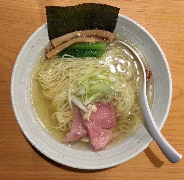 「今宵の酒(智恵美人)→チャーシューハーフ盛+らぁ麺・塩」@麺屋 さくら井の写真