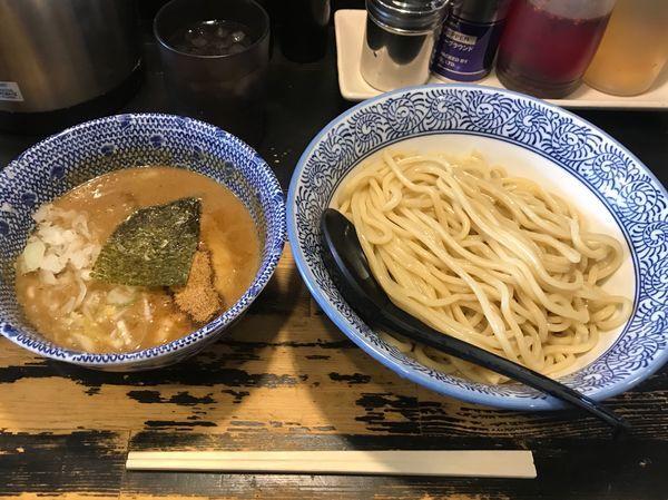 「つけめん中+和え玉カレー」@狼煙 〜NOROSHI〜の写真
