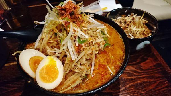 「辛味噌タンメン+大盛り+味玉+Bセット」@北のらーめん 美空の写真
