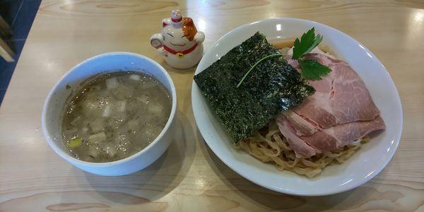 「プレミアム煮干つけそば」@寿製麺よしかわ 坂戸店の写真