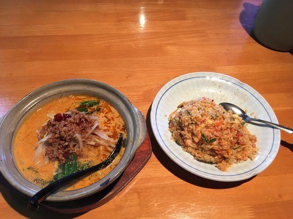 「担々麺とキムチチャーハンセット」@金源 つくば店の写真