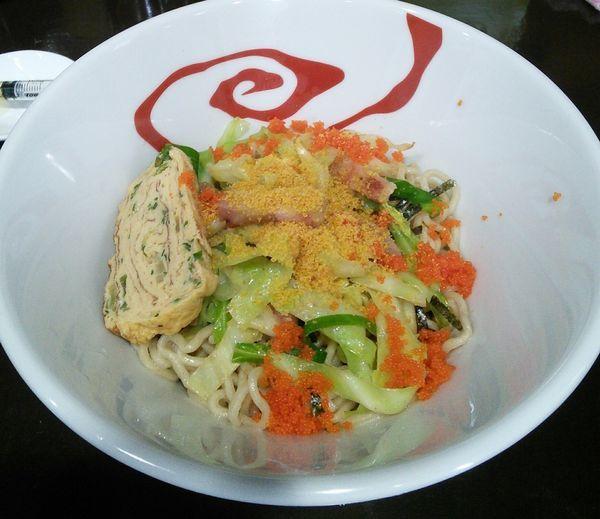 「【限定】真鯛とカラスミとパンチェッタのまぜそば 900円」@麺や 魁星の写真