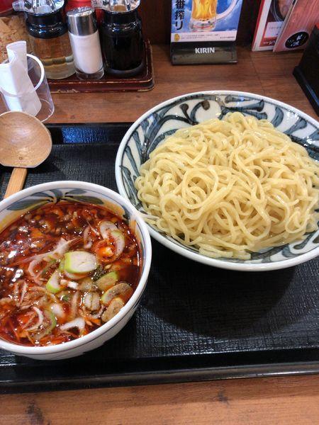 「ピリ辛肉つけ麺」@伝丸 299号飯能BP店の写真