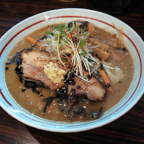 「【限定】ちょっぴり大人の焼き味噌ら~麺」@らー麺 あけどやの写真