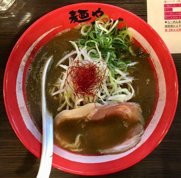 「味噌そば+牡蠣の和え玉」@麺や でこの写真