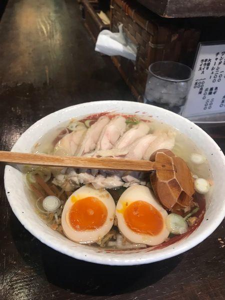 「鶏ラーメン」@らーめん 中々の写真
