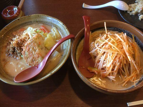 「北海道味噌 肉ねぎ と 九州麦味噌 野菜」@蔵出し味噌 麺場壱歩 入間店の写真