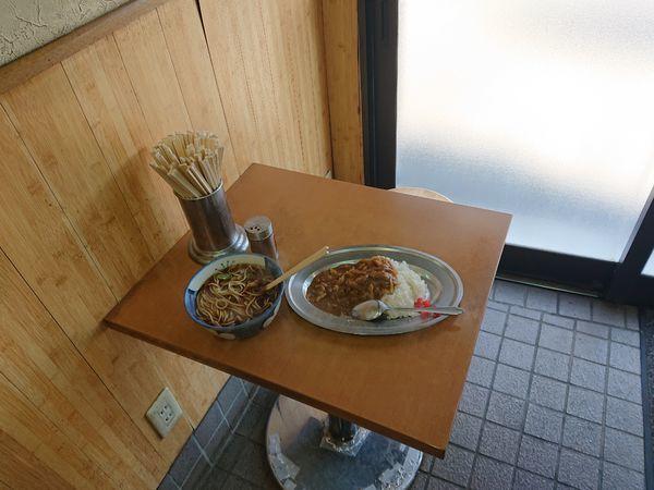 「そば+小カレーセット 540円」@立喰生そば 長寿庵の写真