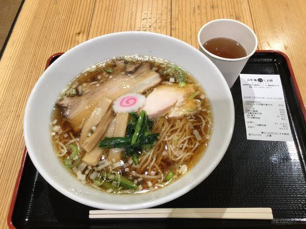 「醤油鶏中華そば(¥730)【若武者】」@日本橋ふくしま館 MIDETTE ミデッテの写真