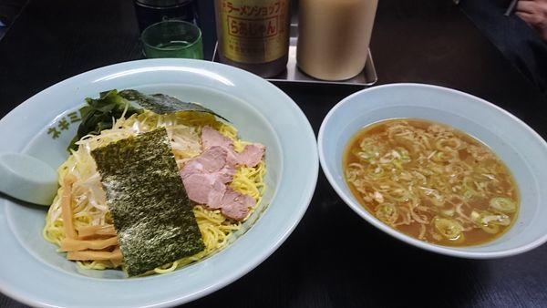 「ネギつけ麺 大盛り 850円」@ラーメンショップ 光町店の写真