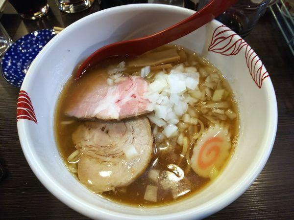 「【限定】あじ煮干の鶏白湯 コース料金(5000円)内」@麺処 あす花の写真