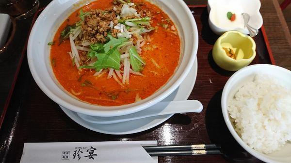 「担々麺 800円」@珍宴の写真