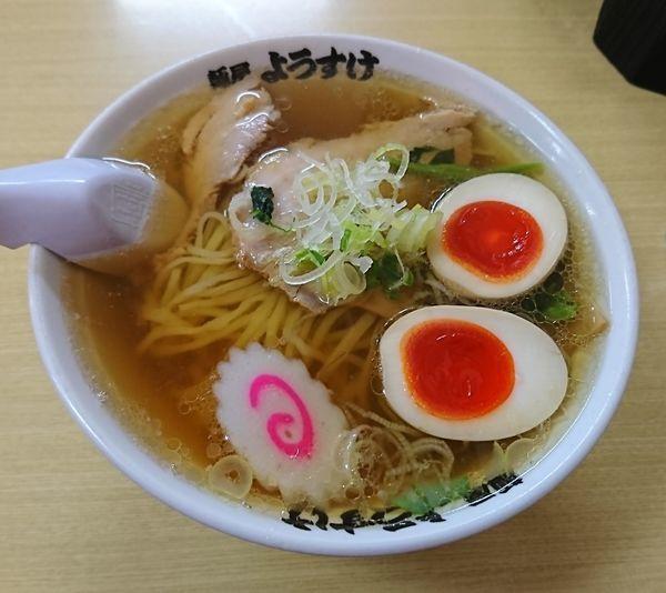 「ラーメン+味玉(680円)」@麺屋 ようすけの写真