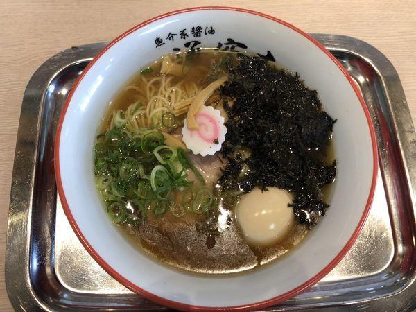 「岩のりらー麺・味玉」@魚介系醤油拉麺専科 海空土の写真