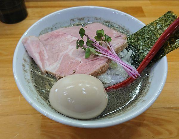 「ヤバニボ醤油+味玉(1090円)」@めんや天夢の写真