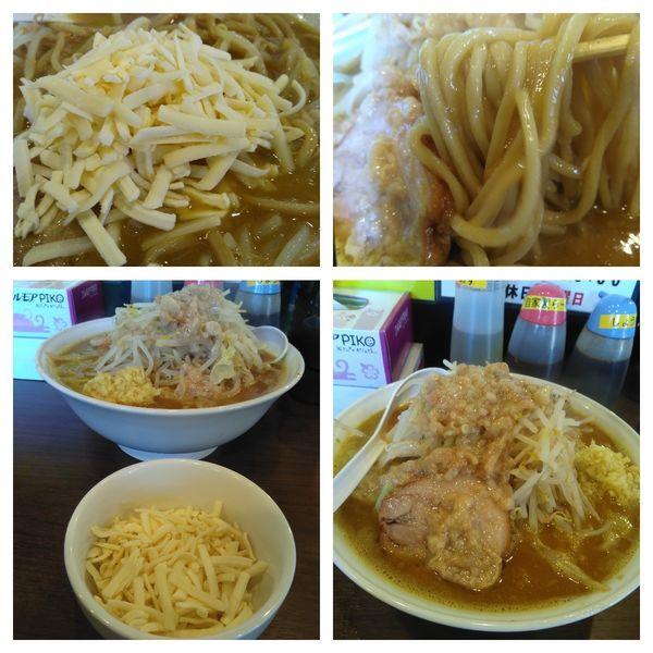 「特大ラーメン(アブラ、ショウガ)+チーズ+カレー」@RAMEN NOROSHI 東大宮の写真