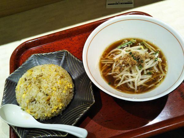 「ミニらぁ麺(炒飯+ミニらぁ麺セット)」@中華食堂一番館 西武新宿駅前店の写真