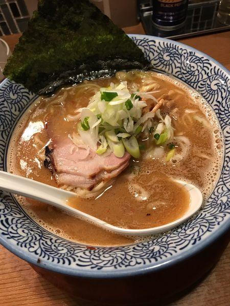 「サンマ白湯ラーメン+サンマ塩ダレTKG」@創新麺庵 生粋の写真