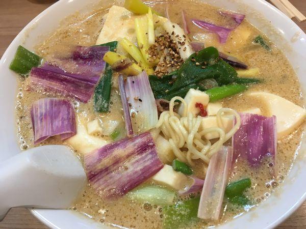 「赤ネギ豆腐味噌ラーメン」@天下一らーめんの写真