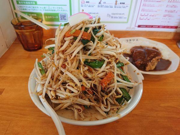 「濃厚タンメン(大盛、野菜まし)」@極濃湯麺 フタツメ 安中店の写真