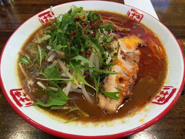 「【月曜限定】カレー豚骨そば  +替玉:かた」@信州麺屋 きまはち商店の写真