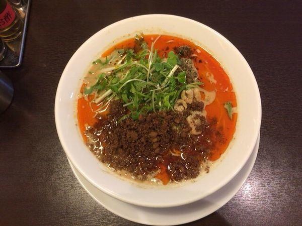 「担々麺 辛3 痺2」@四川担担麺 阿吽 湯島店の写真