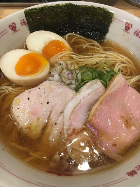 「トリュフ薫るNEO中華そば煮卵+わさび飯¥780」@福島壱麺の写真