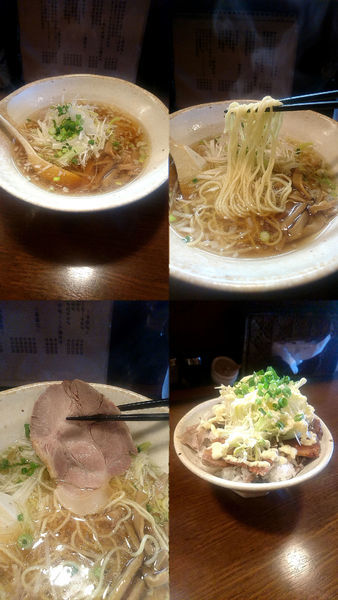 「『醤油ラーメン+ランチCセット(¥660+360)』」@麺 中中の写真