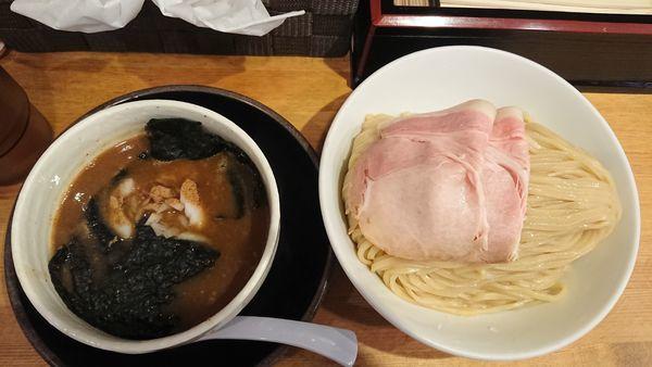 「限定豚骨魚介つけ麺大盛 990円」@清麺屋の写真