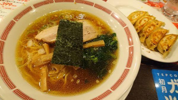 「バーミヤンラーメン、餃子」@バーミヤン 狛江店の写真