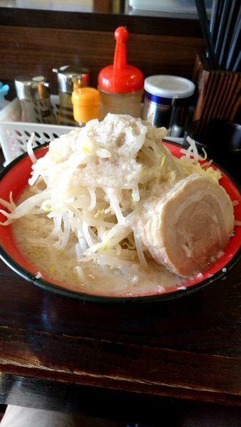 「龍二郎800円野菜増しニンニク少し脂増し」@らーめん龍の写真