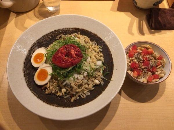 「浅蜊あえそば+浅利トマト飯」@饗 くろ㐂の写真
