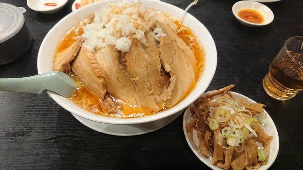 「味噌ふじ麺750円+他」@東池袋大勝軒 うさぎ家の写真