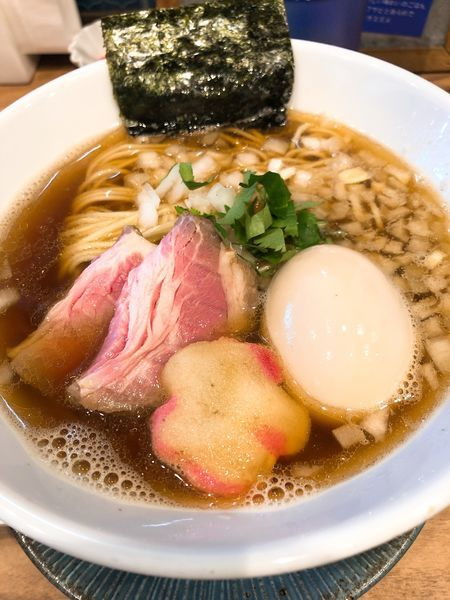 「煮干しソバ ¥750+煮玉子 ¥100」@中華ソバ 篤々 TOKU-TOKUの写真