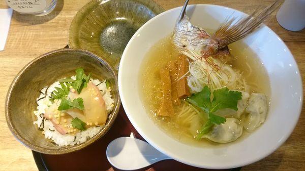 """「真鯛の潮""""特上""""セット 1280円」@麺や Co粋の写真"""