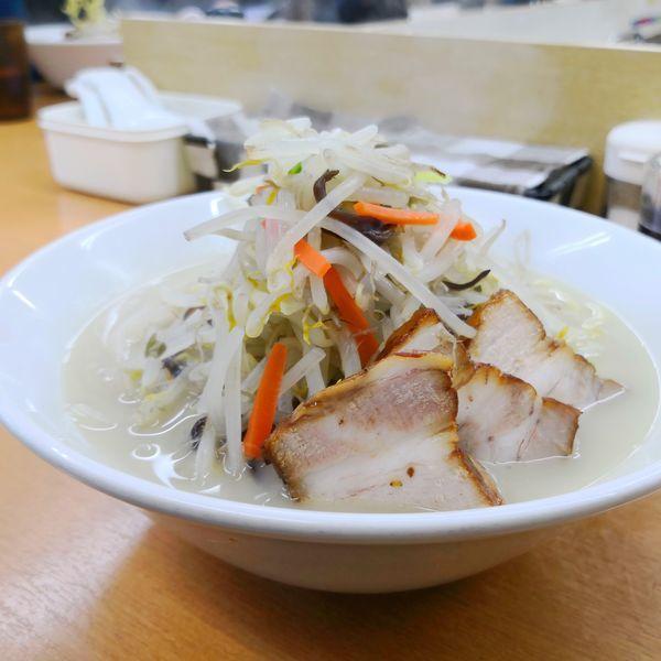 「鶏豚塩タンメン(大盛り)940円」@富白 御徒町本店の写真
