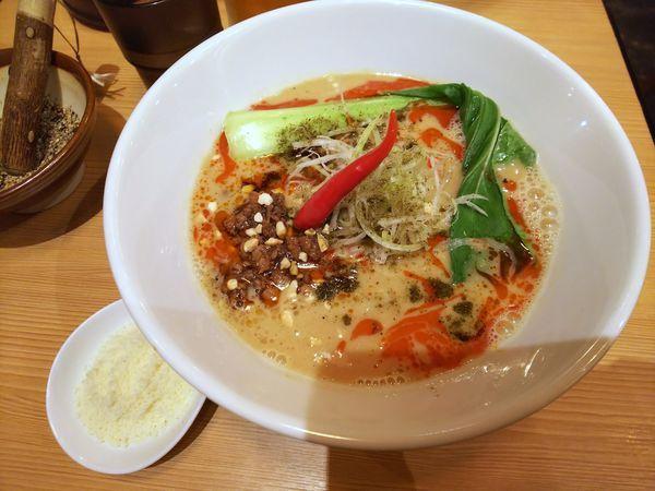 「チーズ四川担々麺(辛さ&しびれレベル1) 1000円」@四川担々麺 どういうわけで、の写真