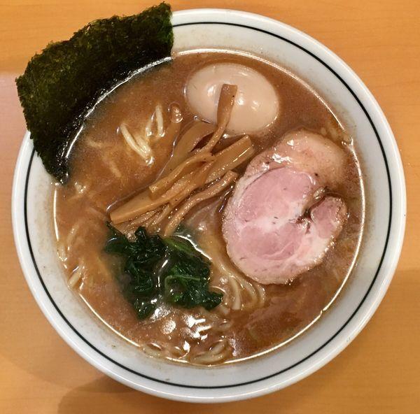 「らーめん+味付玉子」@らーめん文蔵の写真