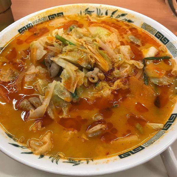 「もつ野菜ラーメン」@日高屋 関内伊勢佐木モール店の写真