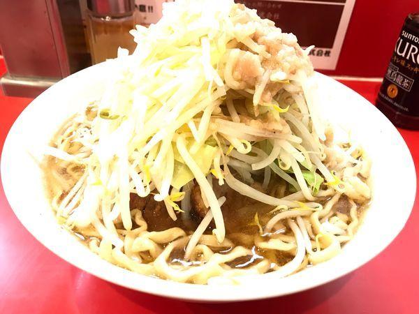 「ラーメン(豚2枚)750円ヤサイアブラマシ」@麺屋 桐龍の写真
