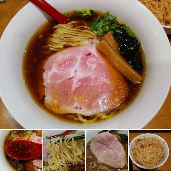 「6周年記念特別らーめん+鮭五目ご飯=1100円」@麺屋 紅の写真