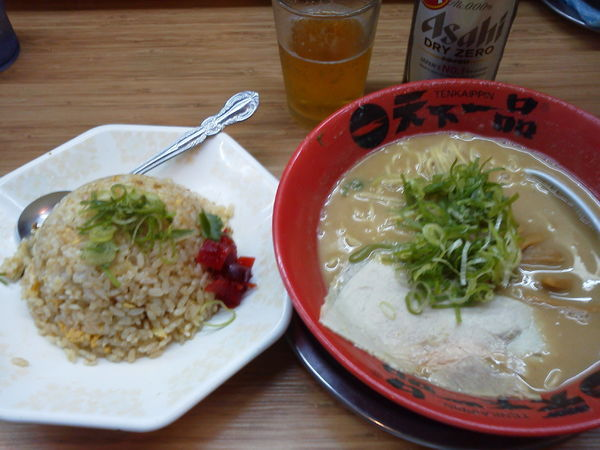 「チャーハン定食920+ノンアル400⁼1320円」@天下一品 小禄店の写真