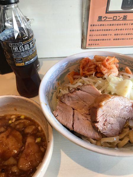 「つけ麺、キムチ」@らーめん 陸 尾山台店の写真