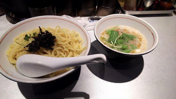 「ぶた塩つけ麺  中盛り温盛り」@麺屋じゃいあん 花小金井店の写真