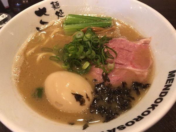 「濃厚魚介豚骨味玉ラーメン」@麺処 さとう 桜新町店の写真