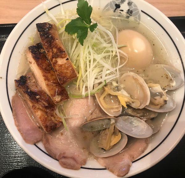 「特製貝塩ラーメン」@麺屋たけ井 TauT洛西口店の写真